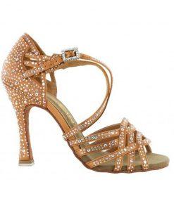 pantofi dans dancin crossed straps