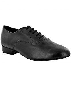 pantofi dans barbati Oxford black heel 2.5 cm