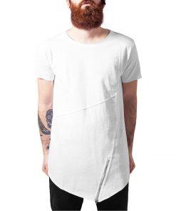 tricou asimetric barbati urban front zip