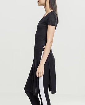 tricou lung femei cu crapaturi laterale